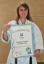 """KK-SV Straßkirchen als """"Kampfkunstschule 2015"""" ausgezeichnet"""